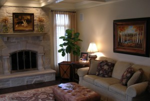 Architectural Elements, Fireplace, Family Room, Area Rug